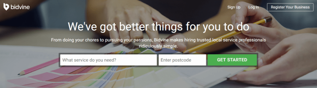 Bidvine Searching For Local Professionals
